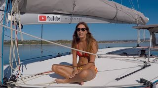 Foredeck Yoga. Sailing Ocean Fox #137