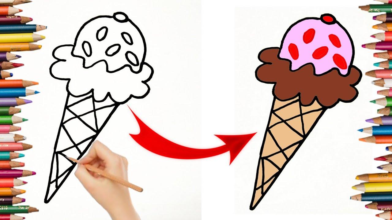 كيفية رسم ايس كريم سهل بالخطوات Artista Youtube