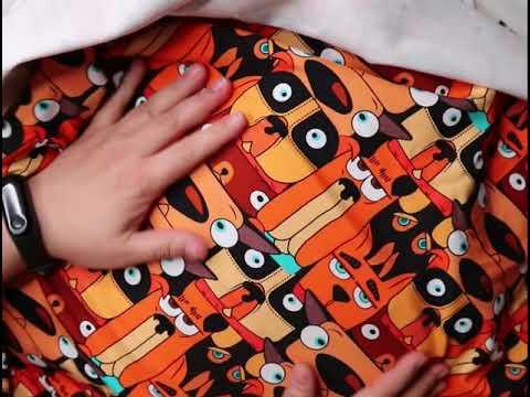Распаковка посылки с трикотажем для пошива пижам и детских вещей.
