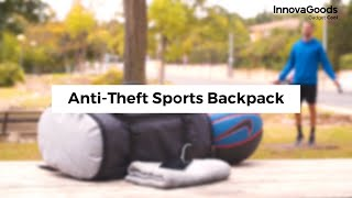 InnovaGoods Gadget Cool Anti-Theft Sports Backpack