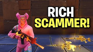 Richest Squeaker Ever Almost Scams Me! (Scammer Get Scammed) Fortnite Save The World