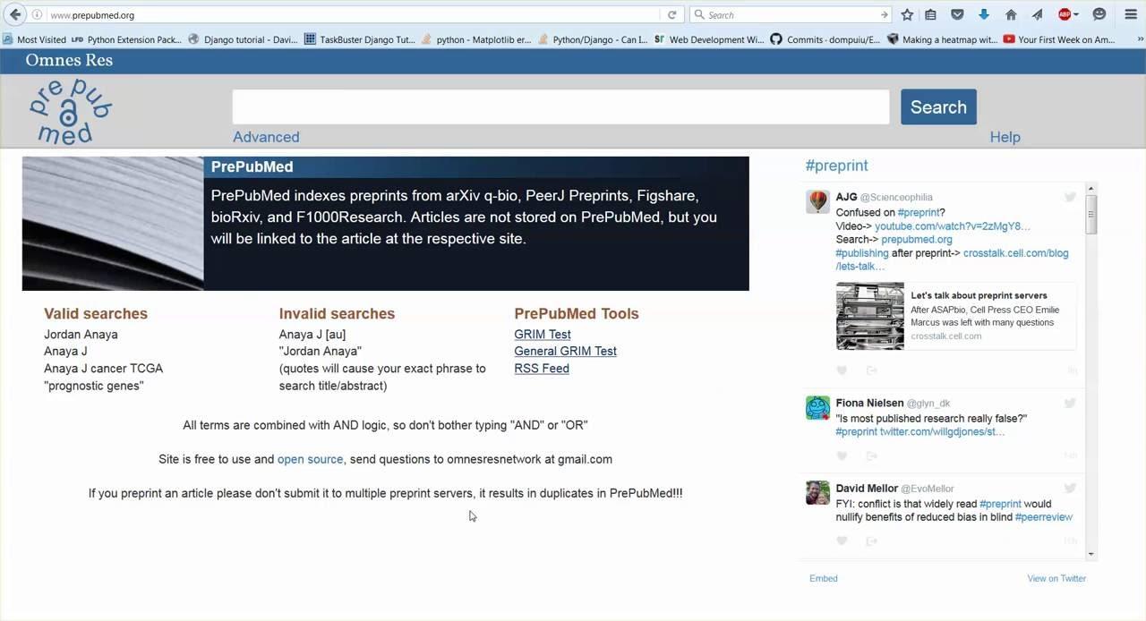 PrePubMed: A PubMed for preprints