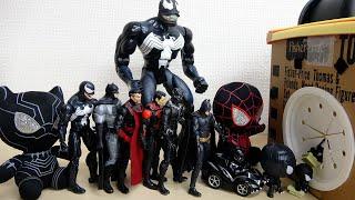 アヴェンジャーズ 黒いヒーローたちが大集合 ヴェノム ブラックスパイダーマン バットマン ブラックパンサー タキロンボックスに虫いれないで