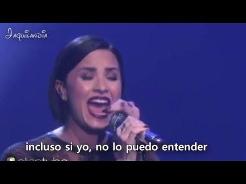 Demi Lovato - Stone Cold- LIVE- Sub Español