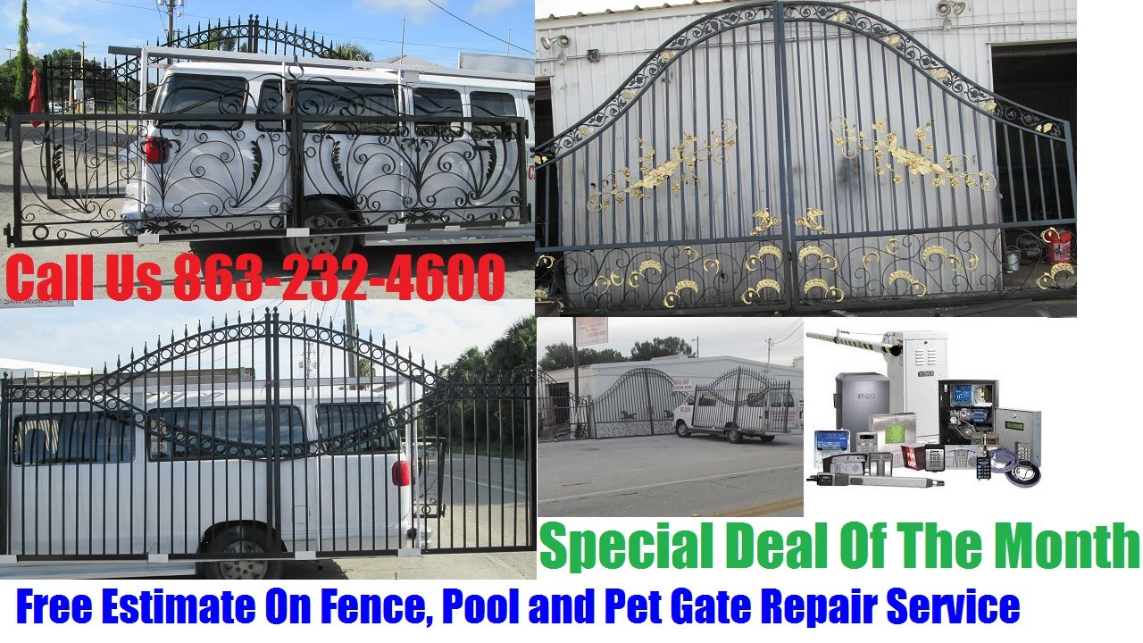 Wrought Iron Driveways, Garden Ranch Steel Gates for Sale In Tampa ...