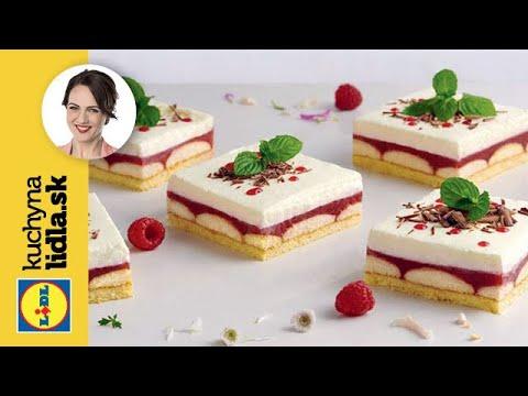 Malinovo-piškótové rezy   Adriana Poláková   Kuchyna Lidla