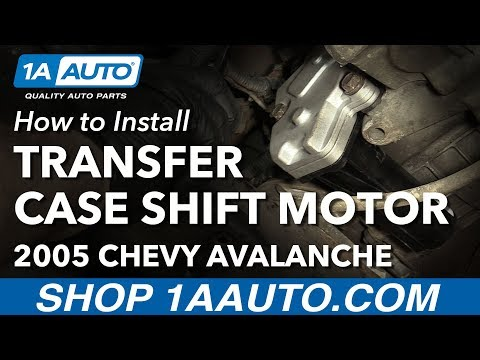 How to Install Replace Transfer Case Shift Motor 2003-07 Chevy Avalanche