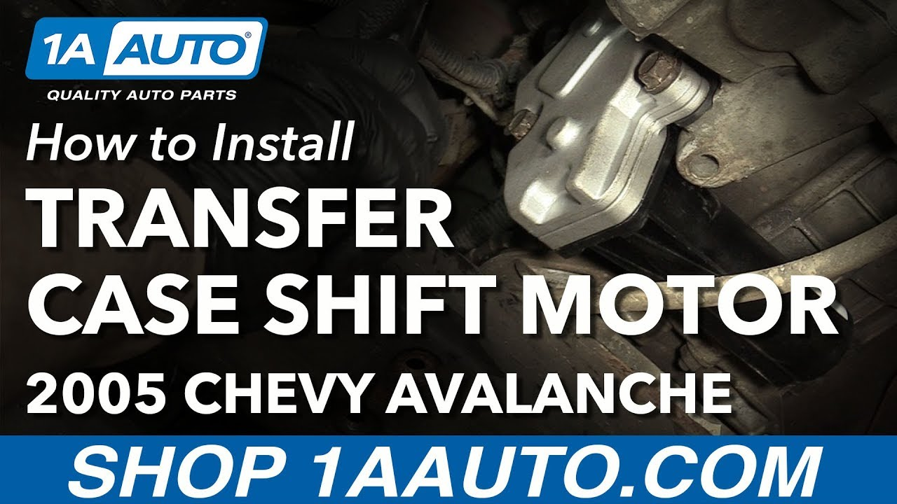 hight resolution of how to install replace transfer case shift motor 2003 07 chevy avalanche