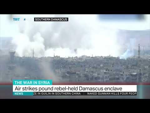 Assad regime pounds enclave near Damascus