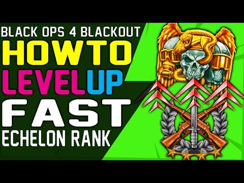 HOW TO LEVEL UP FAST in BLACKOUT and EARN MERITS FAST - Level up Echelon Rank
