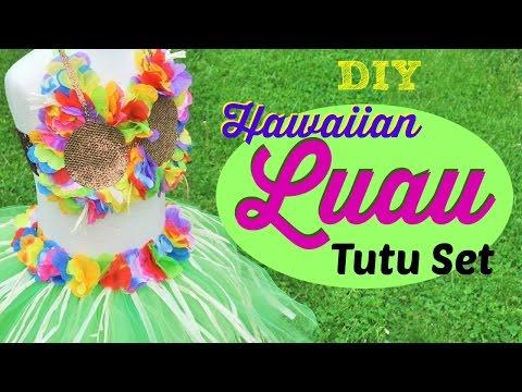 DIY Hawaiian Luau Tutu Set