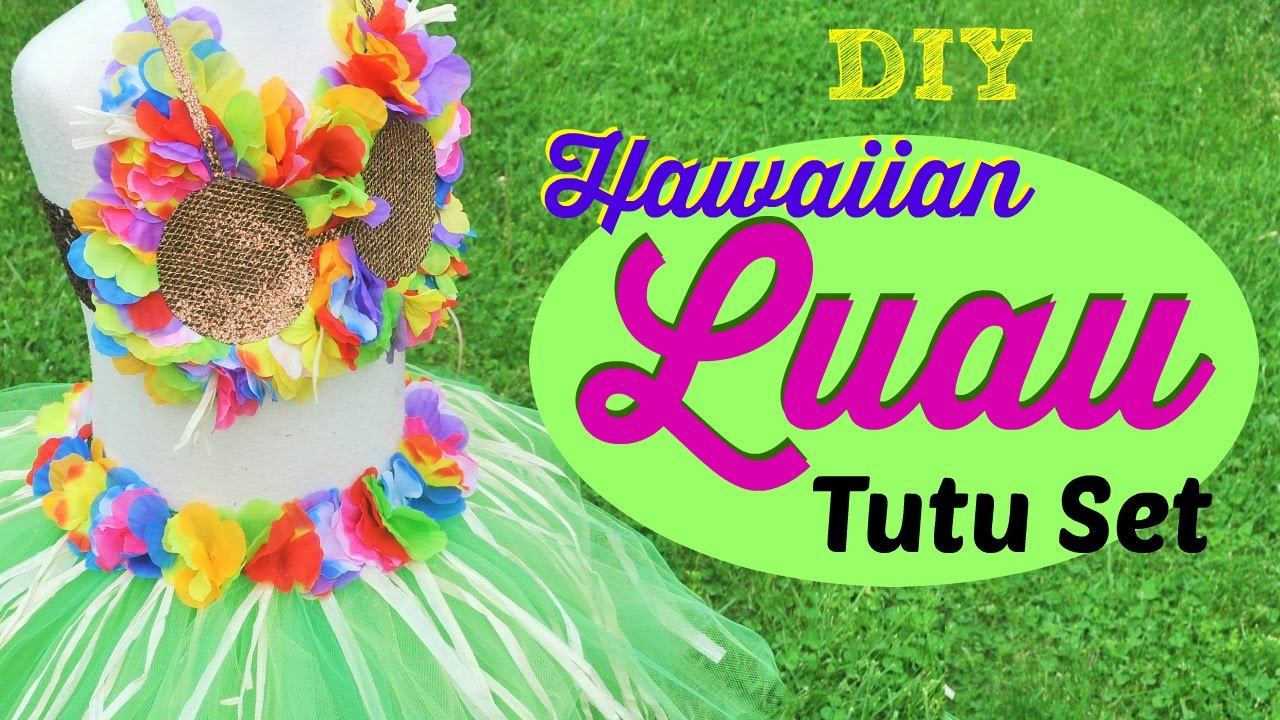 Diy hawaiian luau tutu set youtube solutioingenieria Gallery
