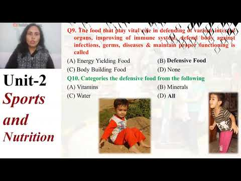 10+2 Physical Education CBSE Unit 2 Sports and Nutrition