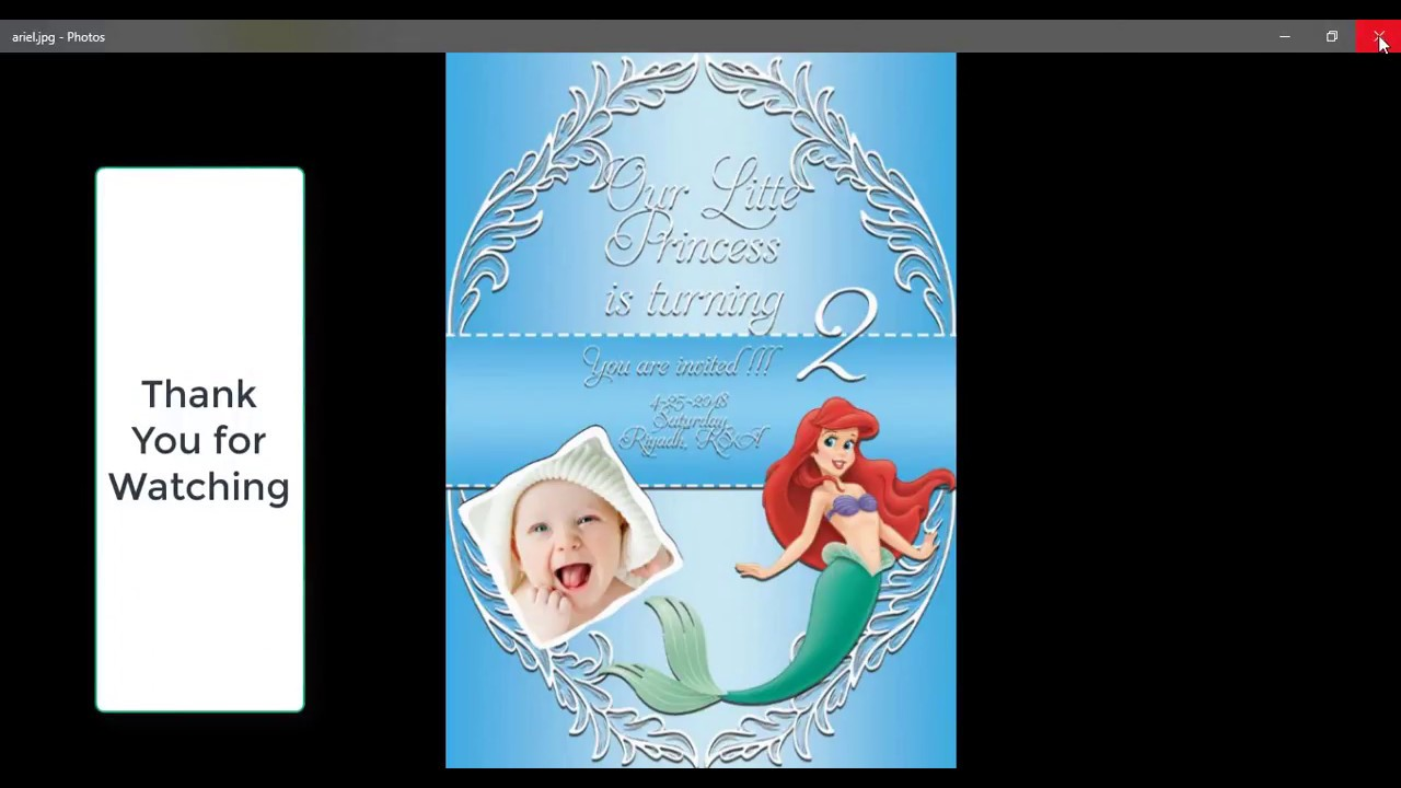 How To Make Birthday Invitation Card In Photoshop Cc 2015 Ariel