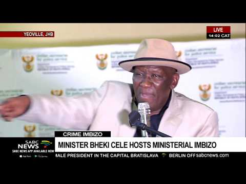 Minister Bheki Cele hosts the ministerial crime imbizo in Yeoville