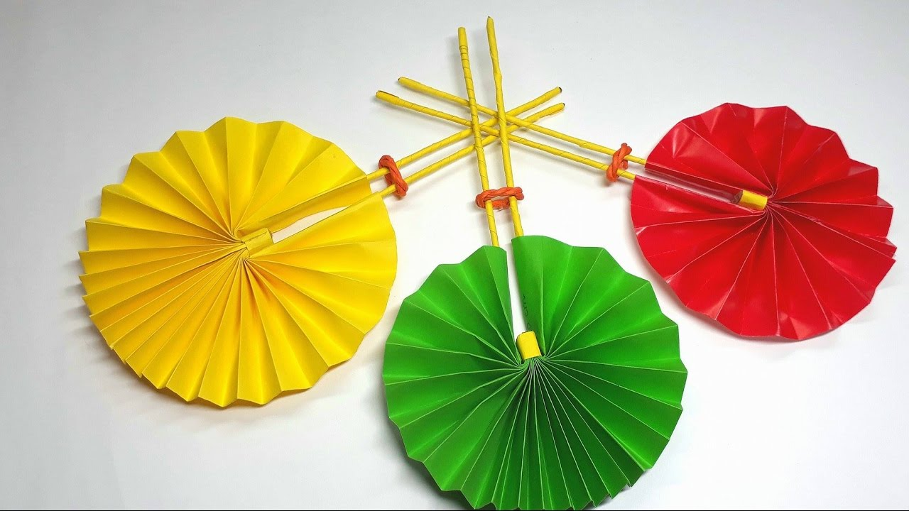 Origami Tutorial How To Fold An Origami Fan Easy Crafts For All