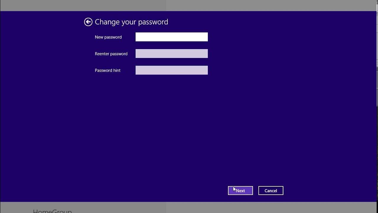 Hướng dẫn cách thay đổi mật khẩu cho máy tính dùng Win 8