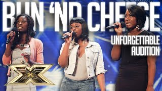 Girlband BUN ND CHEESE want to be taken seriously in UNFORGETTABLE AUDITION  The X Factor UK