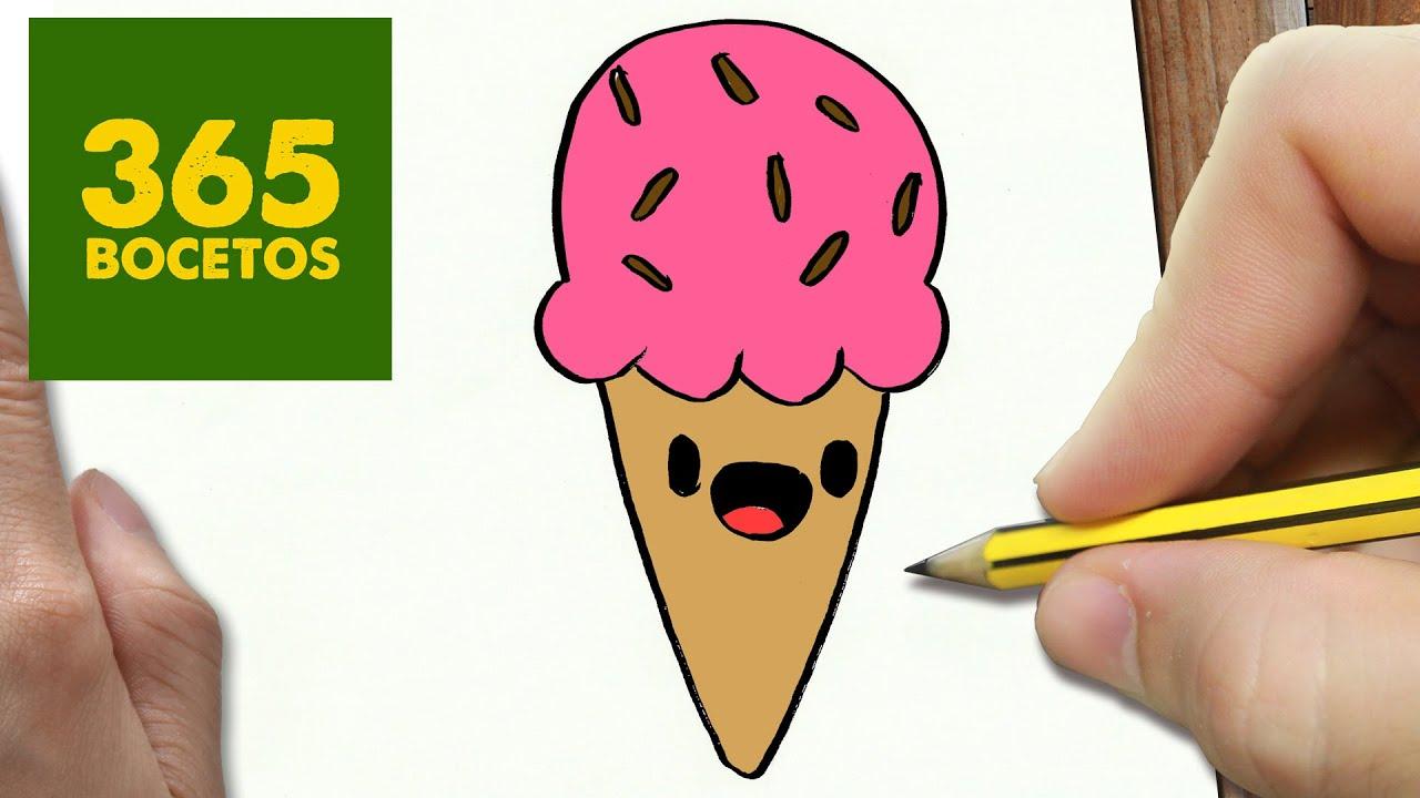 COMO DIBUJAR UN HELADO KAWAII PASO A PASO - Dibujos kawaii faciles ...