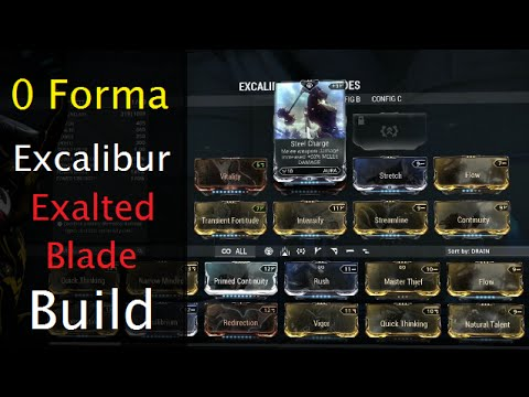 Warframe Excalibur Build