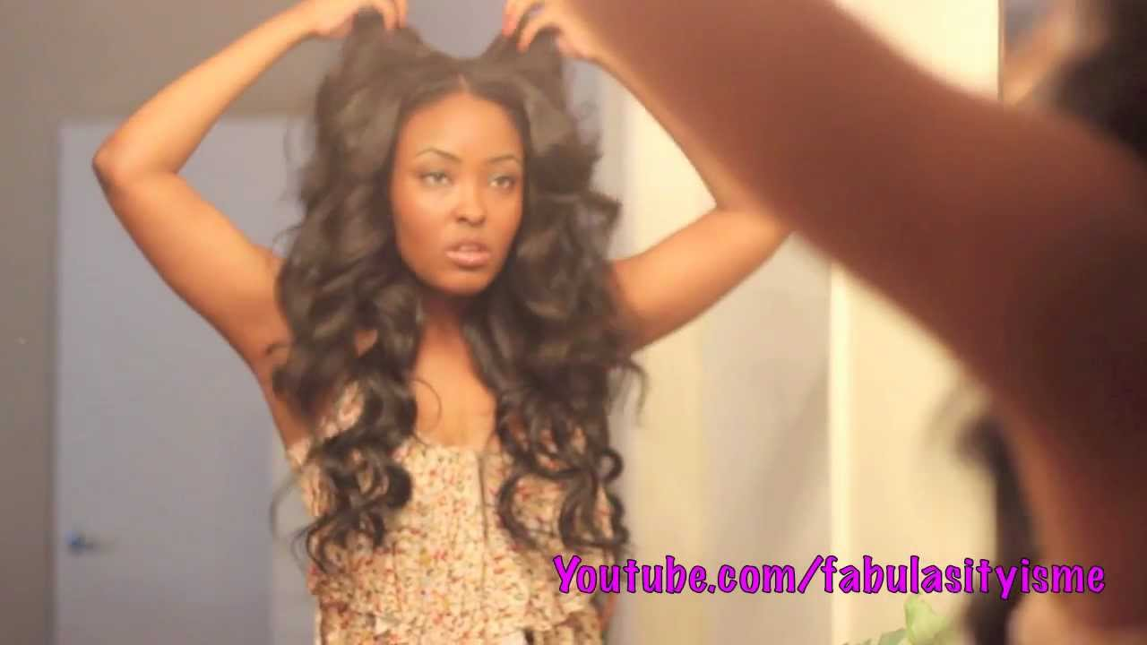 Get some HEATLESS waves in your hair girrrl! using flexi rods ...