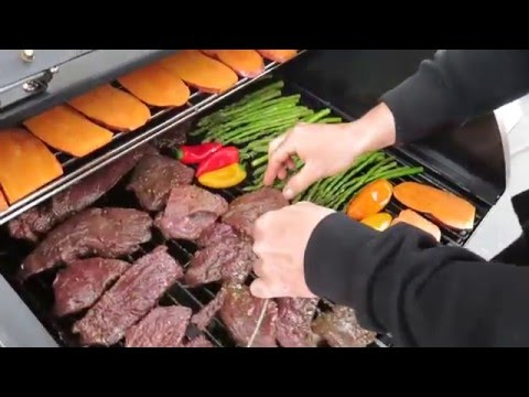 HOW TO COOK ON A PELLET GRILL | STEAK AND VEGGIES