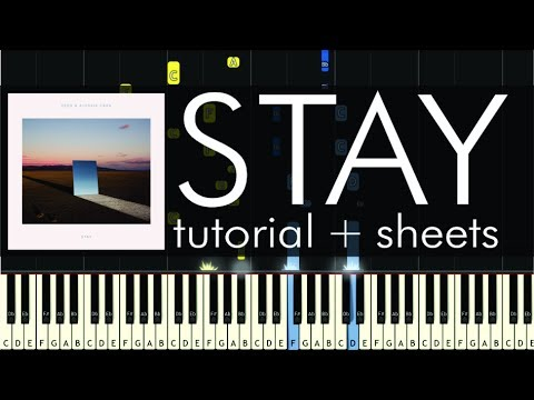 Zedd ft. Alessia Cara - Stay - Piano Tutorial - How to Play + Sheets