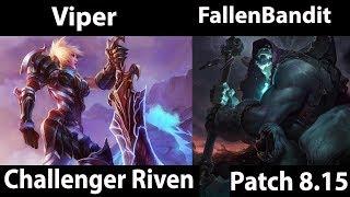 [ Viper ] Riven vs Yorick [ FallenBandit  ] Top - Viper Best Riven Plays - Game Not Stream