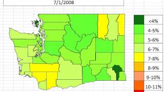 Map: Washington Unemployment By County October 2013