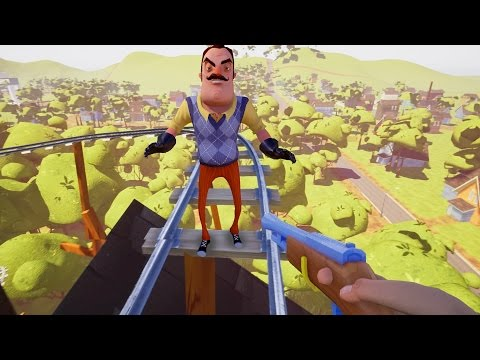 ROLLERCOASTER!! | Hello Neighbor Alpha 4 | Fan Choice Friday
