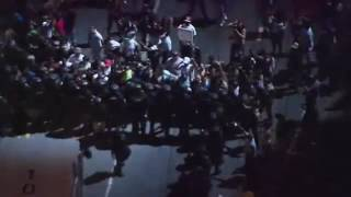 Protest in Charlotte After Police Shooting of Keith Lamont Scott (Raw Video)