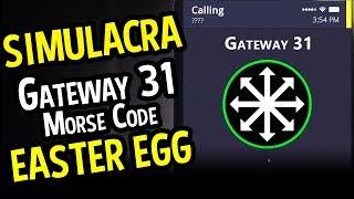 SIMULACRA Gateway 31 Easter Egg (Horror) - Simulacra How to do Gateway 31 Morse Code Easter Egg