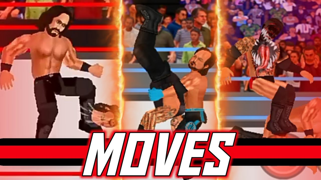 WRESTLING EVOLUTION MOVE GUIDE #1 - HOW TO GET NEW MOVES IN WR2D 2K19 MOD  BY HM CREATIONS