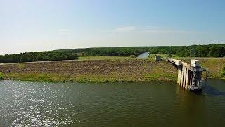 Aerial Views of B. Everett Jordan Dam and Lake - Moncure, NC