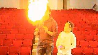 تعلم العاب الخفة # 455 كيف تنفث النار بطريقة آمنة magic trick revealed