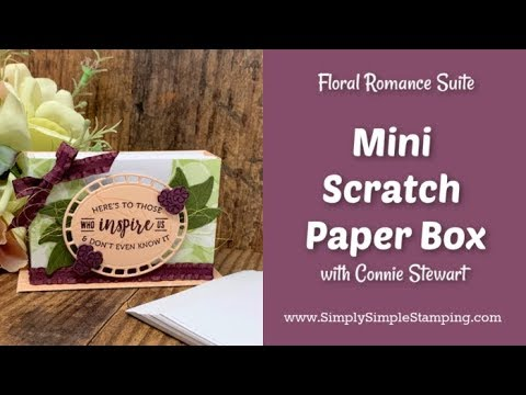 Mini Scratch Paper Box