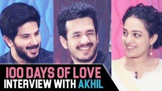 100 days of love team special interview with akhil | nithya menon, dulquer salman | shreyas media