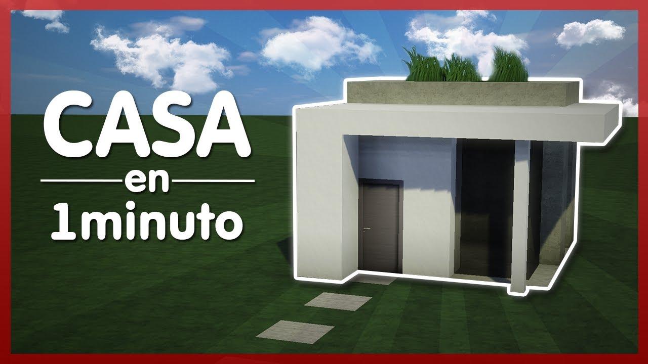 Minecraft como hacer casa moderna en 1 minuto tutorial for Eumaster casa moderna 8x8