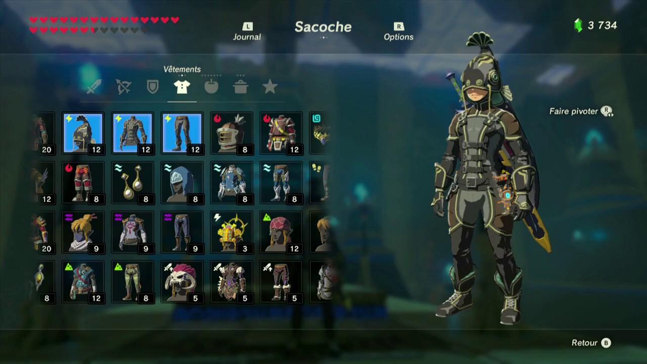 The Legend of Zelda: BotW - Guide de la tenue isolante