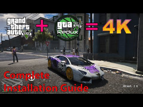 How to install GTA 5 Redux Mod 1.9 | 4K Visual & Gaming Mod | Works on Both Epic Games And Steam
