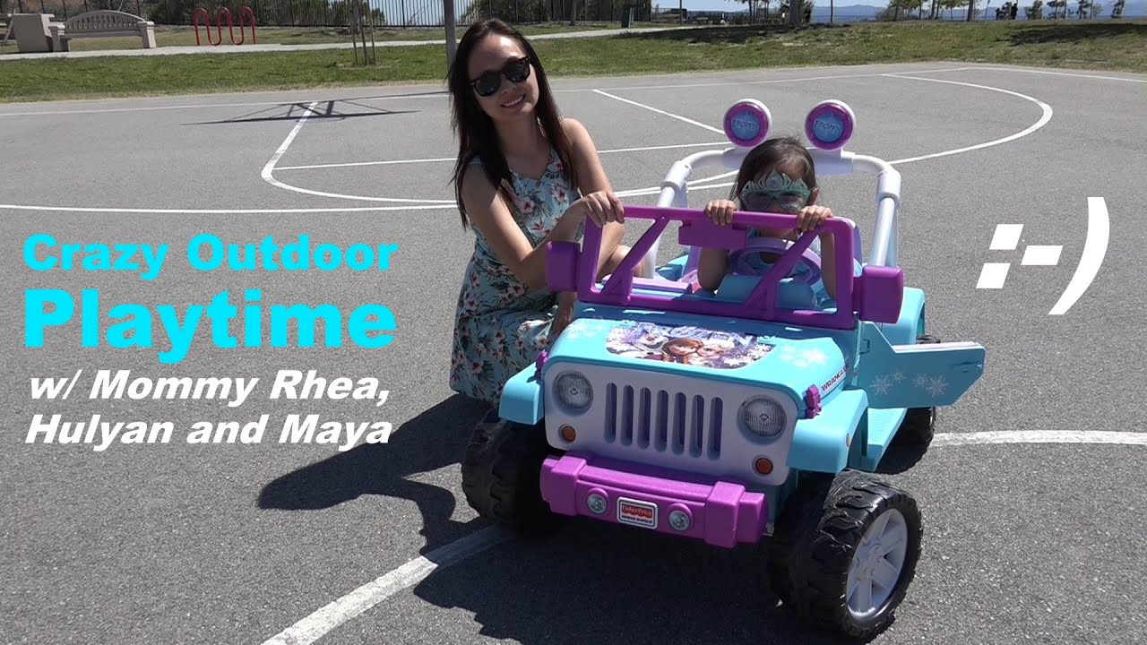 Disney Frozen Toy Fisher Price 12v Ride On Power Wheels Outdoor Jeep Playtime Youtube