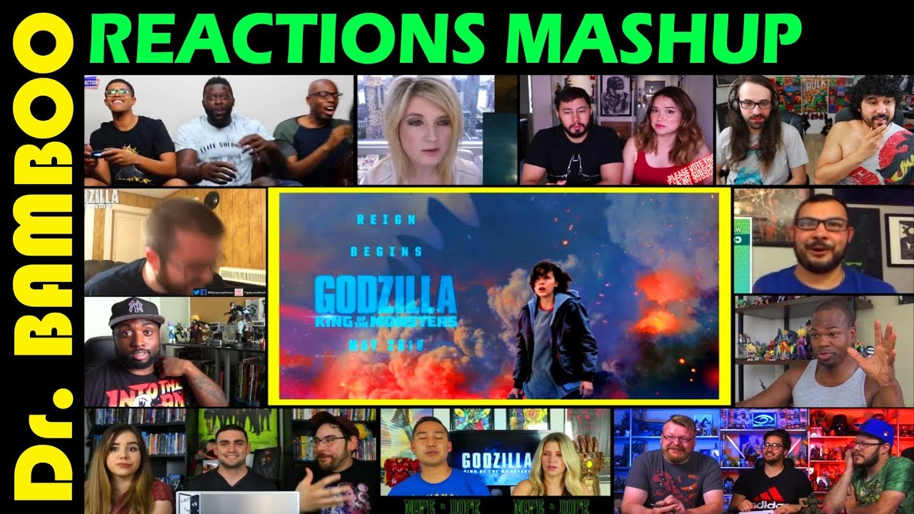 Godzilla King Of The Monsters Official Trailer Reactions Mashup