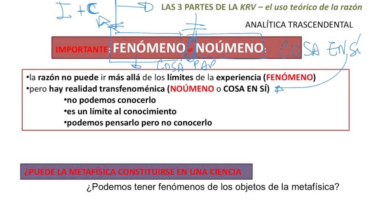 Kant detallado _15 y 18 de 21_resumen fen meno no meno