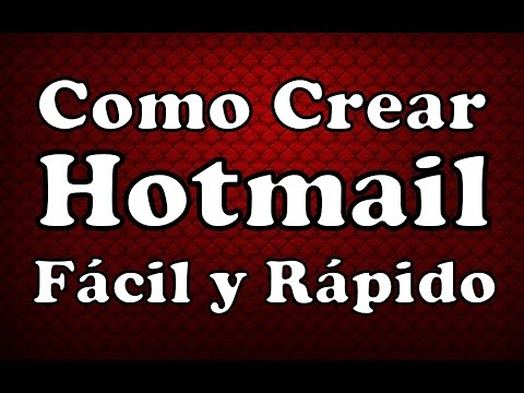 Crear Correo Electronico En Hotmail Abrir Cuenta De Hotmail Facil