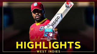 Highlights | West Indies vs Sri Lanka | Bravo Ton Sees WI Sweep Series! | 3rd CG Insurance ODI 2021