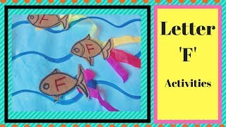 Alphabet F recognition Activities for Toddlers & Preschoolers| Alphabet learning activities 1-3 yr