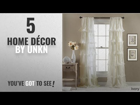 Top 10 Home Décor By Unkn [ Winter 2018 ]: 1pc Girls Ivory Gypsy Window Curtain Single Panel, Cream