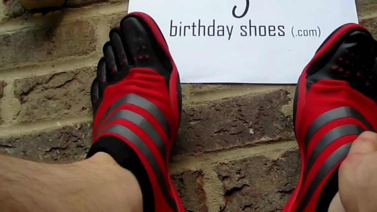 ampliar Volcán mueble  Adidas Adipure Trainer Toe Shoes - BirthdayShoes.com review - YouTube