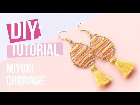 Schmuck machen: Miyuki Ohrringe mit Artistic Wire ♡ DIY
