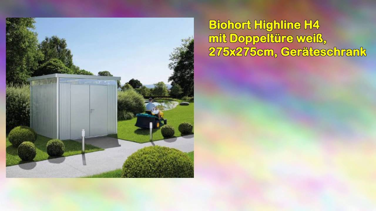 biohort highline h4 mit doppelt re wei 275x275cm ger teschrank youtube. Black Bedroom Furniture Sets. Home Design Ideas